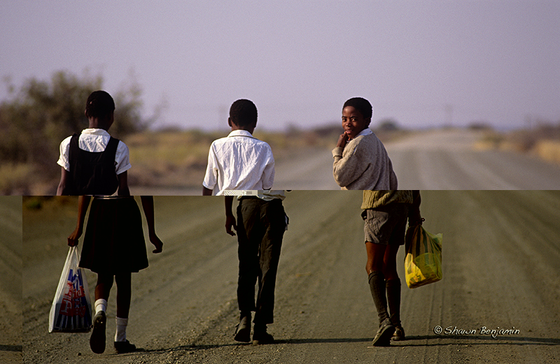 ArkImages.com – Shawn Benjamin Photography | School Kids Walking Home, South Africa