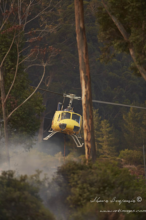 ArkImages.com - Shawn Benjamin Photography | Zwaanswyk| Fire | Helicopter