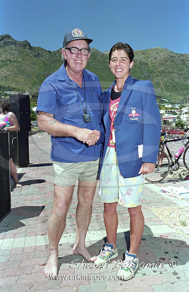 The Kwik Fit Standard Triathlon Held At Gordons Bay  On The  11 October 1990