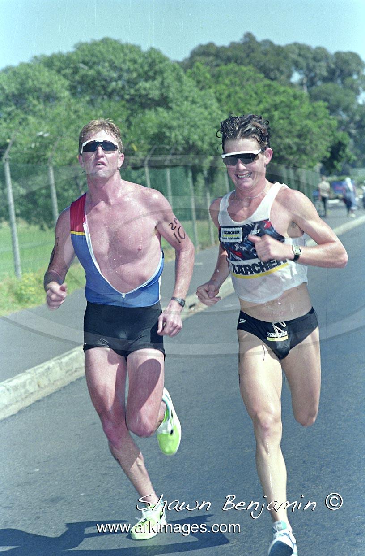 The Kwik Fit Standard Triathlon Held At Gordons Bay  On The  11 October 1990